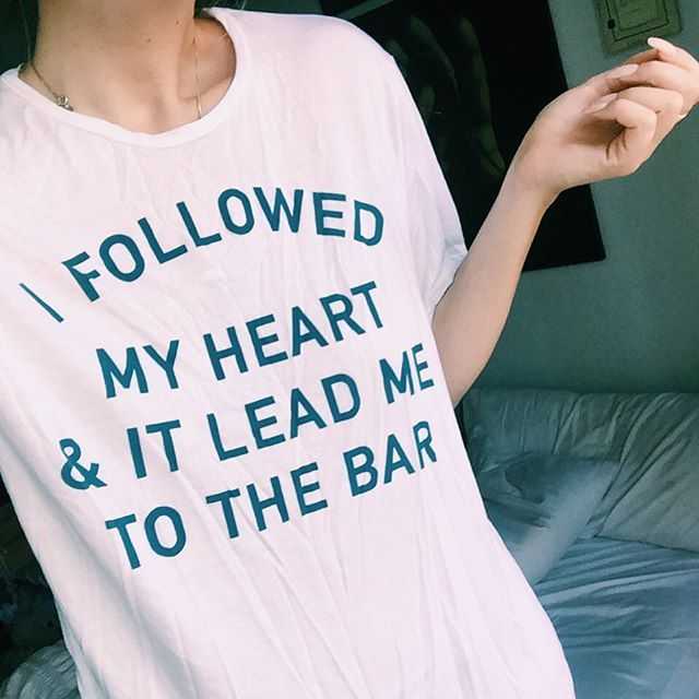 Sometimes you just have to follow your heart. And sometimes your heart leads you to the bar. ¯_(ツ)_/¯ This tee is ✨brand new✨ on JACVANEK.COM. Tag a friend who needs it and go check out the rest of my new arrivals!!