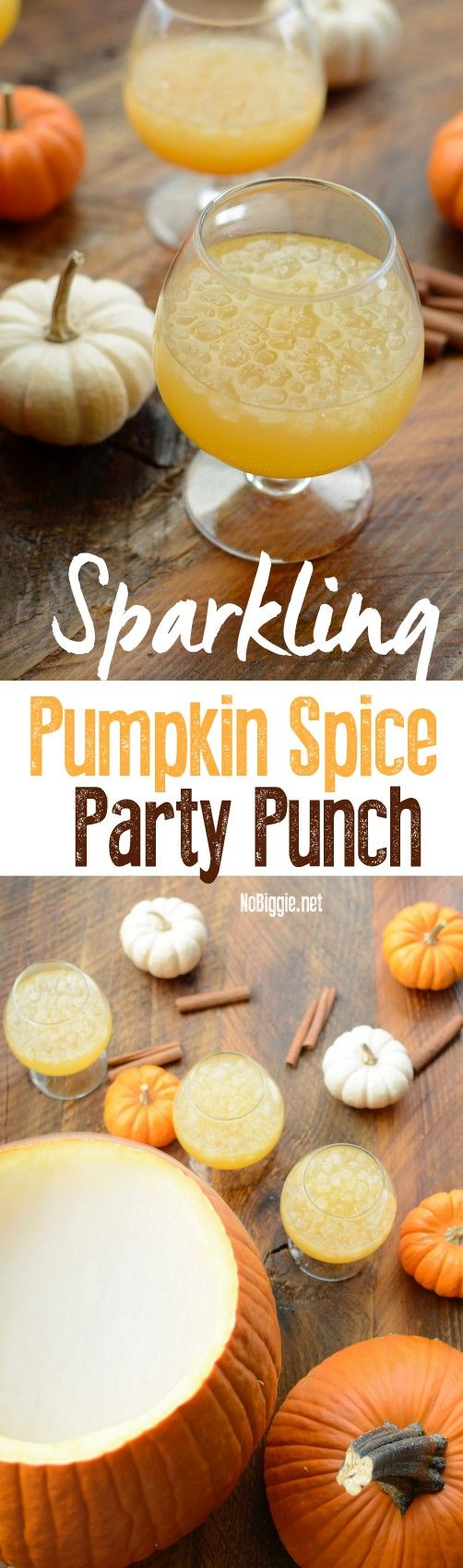 Sparkling Pumpkin Spice Punch Ingredients ½ cup pumpkin puree ½ cup orange juice concentrate ½ cup sugar ½ cup water ¼ cup lemon juice 1 teaspoon pumpkin spice 1 2 liter bottle Sprite 1 bag of Sonic Pebble Ice 1 Pumpkin, hallowed out for serving