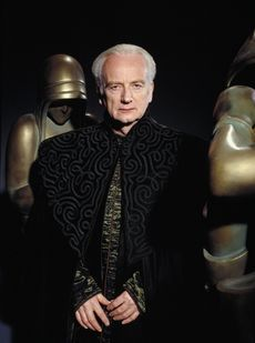 Emperor Sheev Palpatine - Naboo senator and later Supreme Chancellor of the Republic. He is also known as Darth Sidious, a Dark Lord of the Sith. His machinations turn the Galactic Republic into the Galactic Empire. He lures Anakin Skywalker to the dark side of the Force and renames him Darth Vader. He is eventually killed by a redeemed Anakin Skywalker.