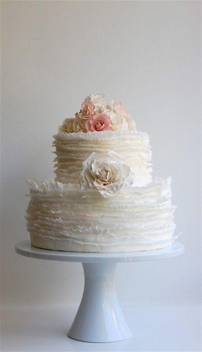 maggie austin cake: Pretty Cakes, Ruffles Cakes, Wedding Cakes, So Pretty, Cakes Design, Beautiful Cakes, Cakes Wedding, Simple Wedding, Rose Cakes