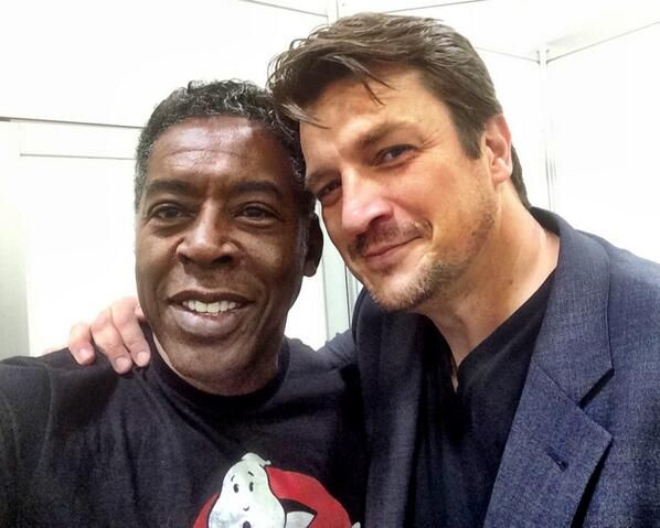 @Nathan Fillion & @Ernie_Hudson How cool is this?! At Minneapolis Comic Con: