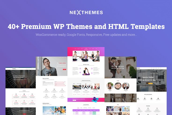 40+ Premium #wordpress Themes & HTML Templates from NexThemes - only $39! #webgraphics #templates #fonts #graphics