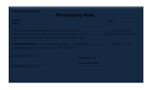 Promissory-Note-Template