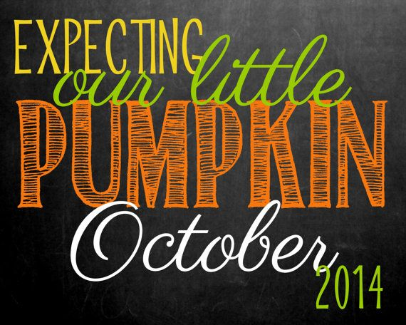 Pregnancy Announcement Chalkboard // Fall/Pumpkin by MMasonDesigns, $15.00