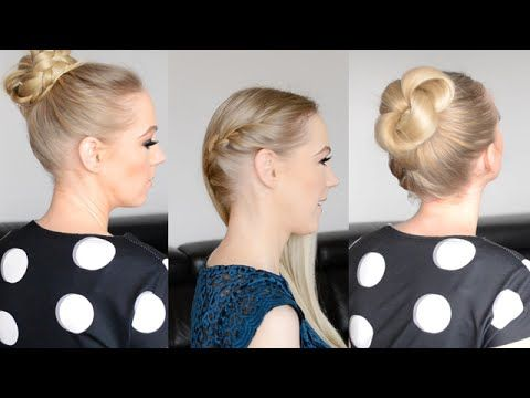 3 Hairstyles for Long Hair - YouTube