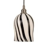 Coffee Stripe Art Glass Bullet PendantBy Checkolite International