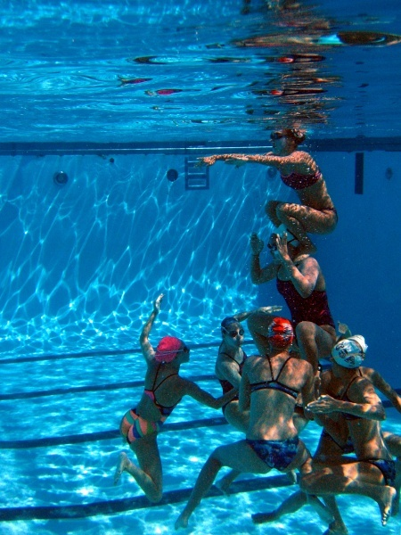 Synchro - Standard chair boost. This is what those highlights look like under the water the moment before they happen.