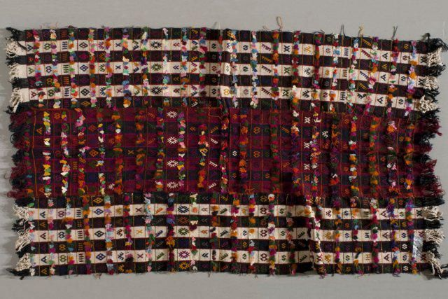 Kilim, 1900s, Turkey, wool, tufts, cloth, tapestry, the Collection of the Jedel Family Foundation (the image was provided to the Turkish Cultural Foundation by Spencer Museum of Art, University of Kansas)