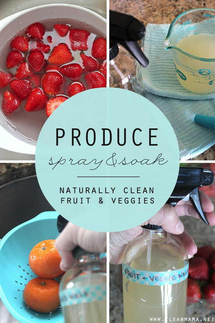 Get rid of dirt, bacteria and pesticides with this simple DIY produce spray and wash. Easy as can be!