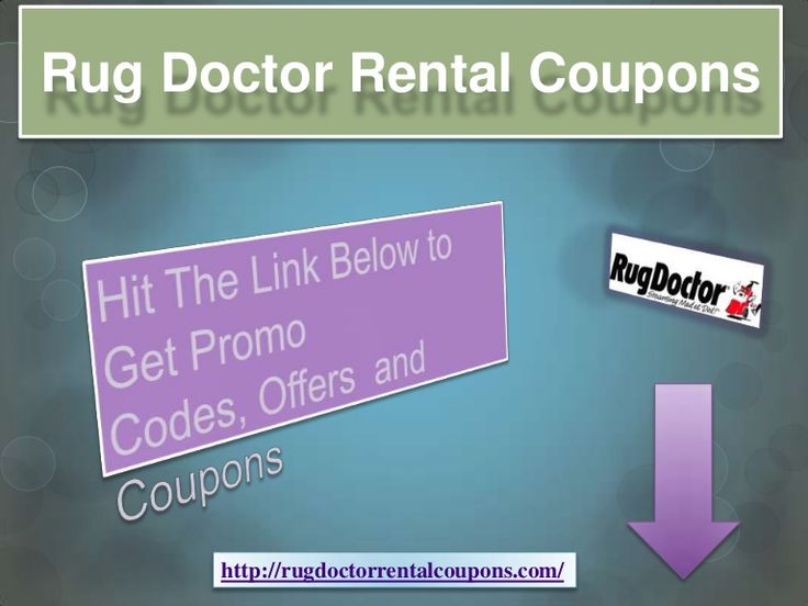 Rug Doctor Rental Coupons By GreatSavings Via Slideshare