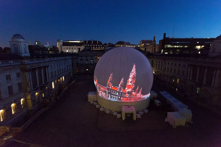 Ringstrasse Anniversary & 60th Eurovision Song Contest. Inflatable 360-degree dome measuring 22m. 15 minute presentation.
