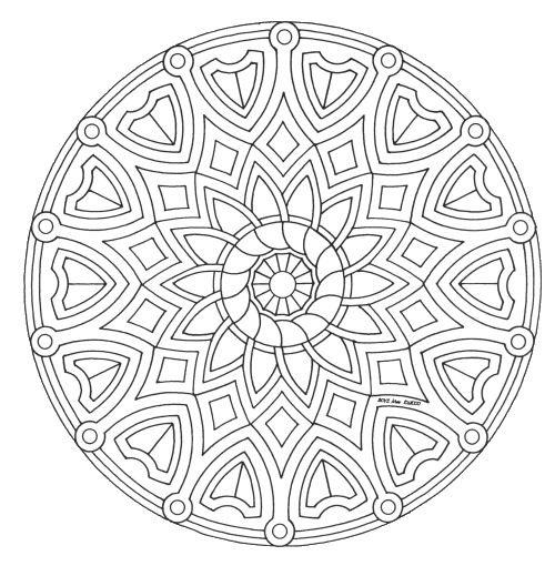 mandala_245 mandala coloring pages - Art Therapy Coloring Pages Mandala