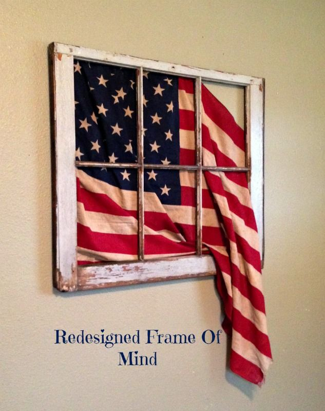 Vintage 6 pane flag window