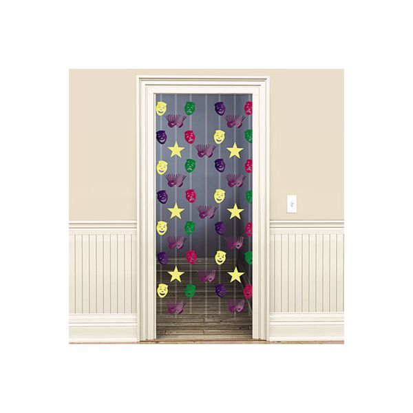 Mardi Gras Doorway Curtain 65in