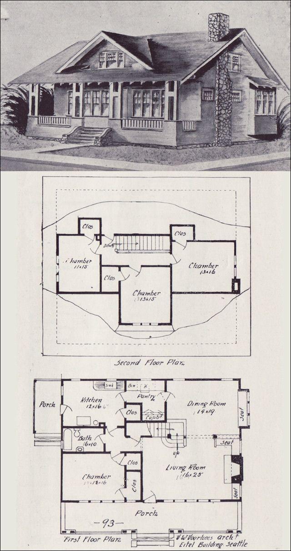 214 best VinTagE HOUSE PlanS~1900s images on Pinterest ...