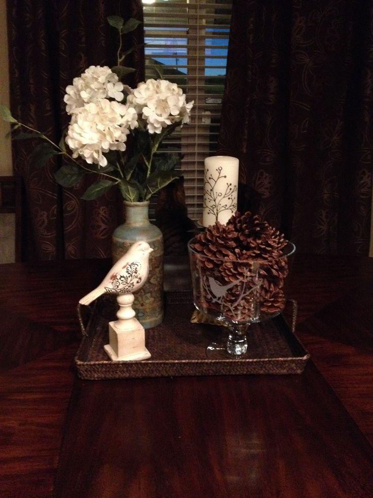Kitchen table centerpiece  everyday decorating ideas