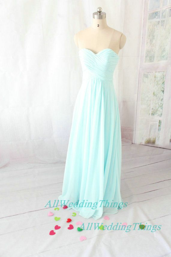 Light Blue Bridesmaid dress, long prom dress , evening formal dress on Etsy, $110.00: colors I love for the dresses!