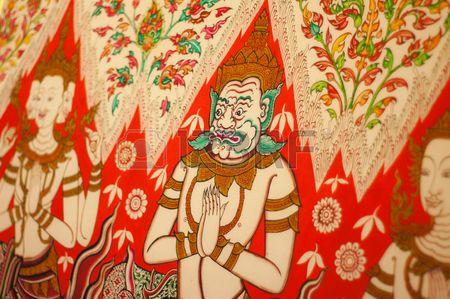 Thai fine art painting