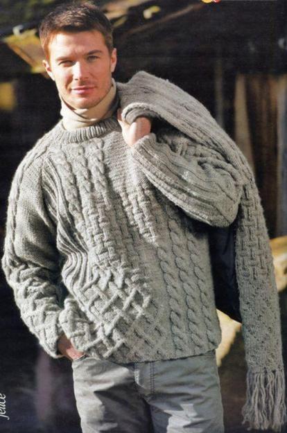 Suéter y bufanda de lana