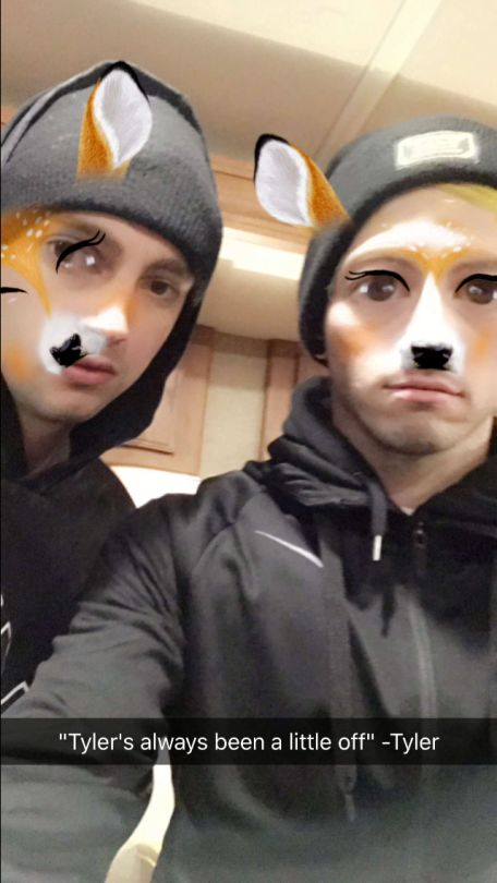 """I'm not a big fan of the filter but I had to pin for the caption. """"Tyler's always been a little off."""" -Tyler"""