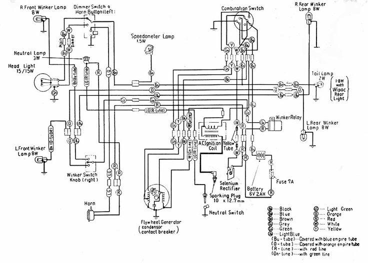 1965 honda c100 wiring diagram honda urban express wiring