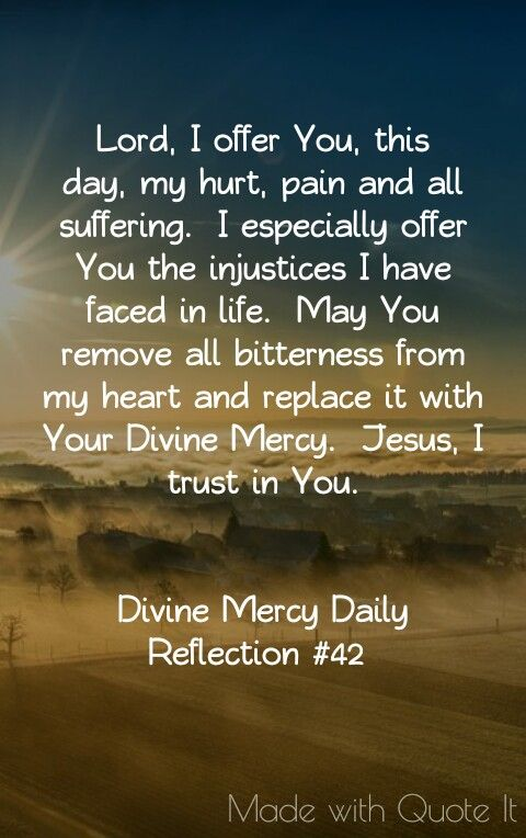 Divine Mercy Daily Reflection #42