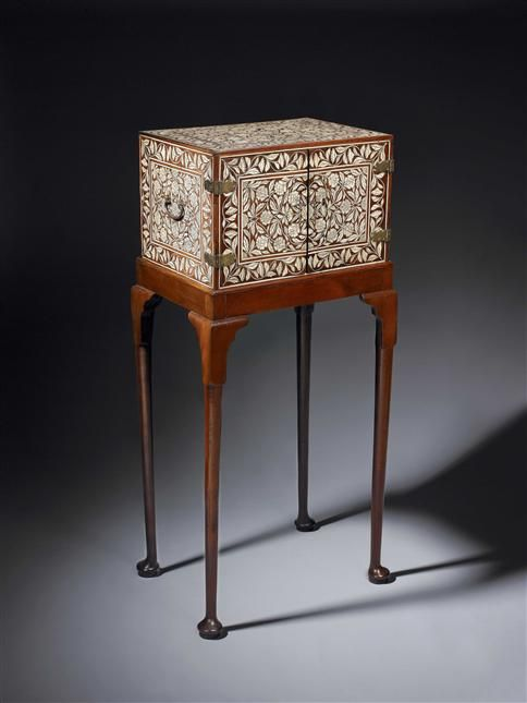 17th century indo portuguese ivory inlaid cabinet the for Mobilier stand