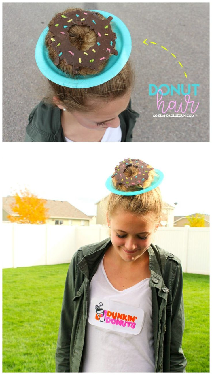 donut hair how to for crazy hair day!
