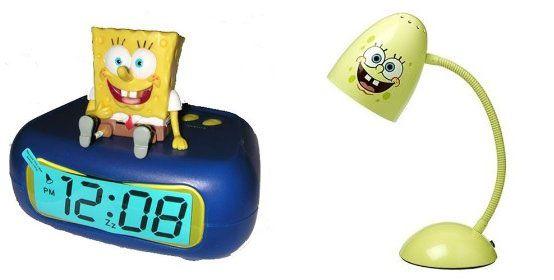 SpongeBob SquarePants Themed Room Design....alright got the alarm clock! now i need the lamp yo!!