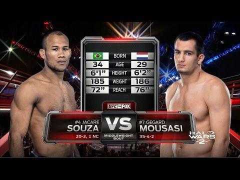 UFC 208 Free Fight: Jacare Souza vs Gegard Moussasi