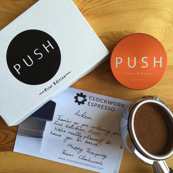 The home of PUSH - the world's most precise coffee tamper.