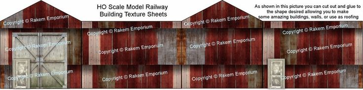 HO Scale Rusty Corrugated Iron High Definition Matte Photo Sheets 3 x A4 - CRSM1