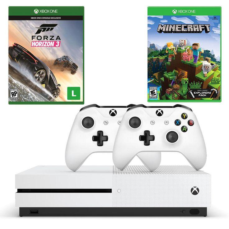 Foto 1 - Combo Xbox One S 500GB + Forza Horizon 3 + Minecraft Explorers Pack + Controle Extra