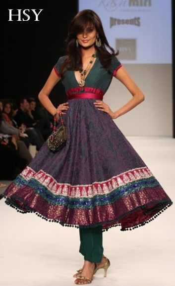 Love love love. The neck, how the skirt moves, the lill pink waistband... and her hair! :D ---- #indian #wedding by HSY