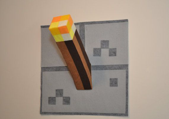 3 torches Minecraft inspired torch on Etsy, $44.95