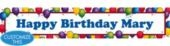 Balloon Fun Custom Birthday Banner- Adult Birthday Banners- Custom Banners- Custom Invitations- Invitations - Party City