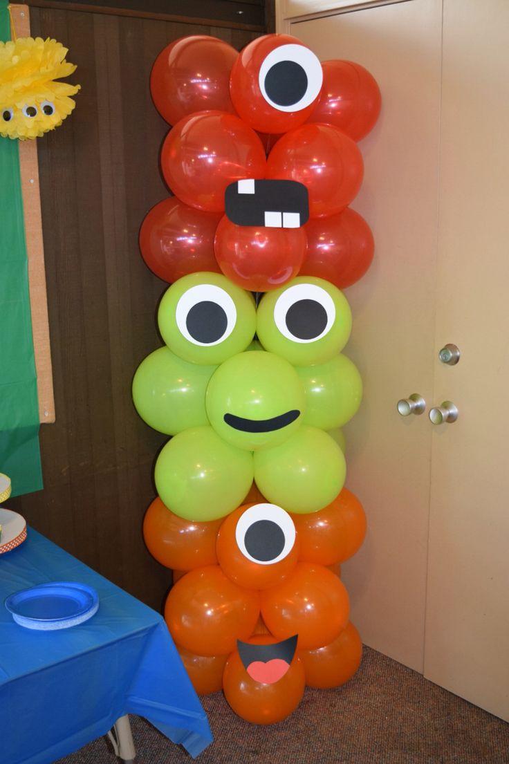 Monster balloon tower