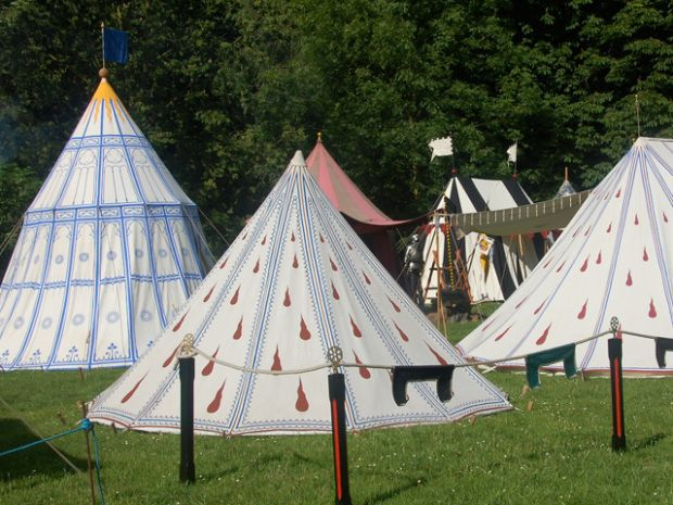 Article on painted tents and making a custom rain fly #camping #glamping