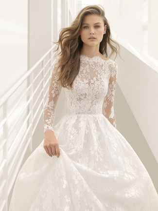 Perfect Rosa Clar Fall Evocatively Romantic and Ethereal Wedding Dresses