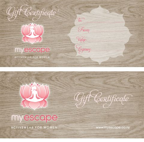 10 best custom gift certificate designs images on pinterest miss blossom design logo branding and graphic nd web design boutique custom gift certificate gift voucher znd accomplishment certificate design yadclub Images