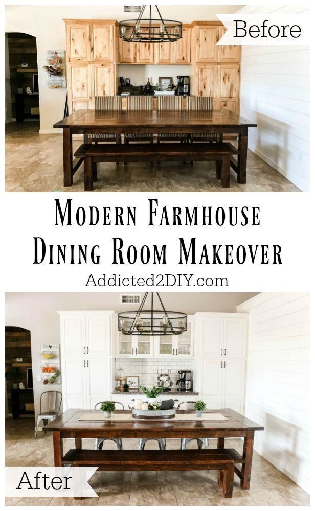 One Room Challenge Week 6 - Modern Farmhouse Dining Room Reveal!!! - Addicted 2 DIY