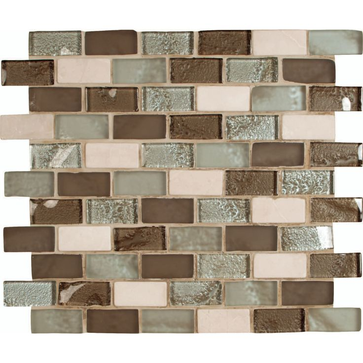 Ms International Cosmos Blend 12 In X 8 Mm Gl Stone Mesh Mounted Mosaic Tile At The Home Depot Tablet