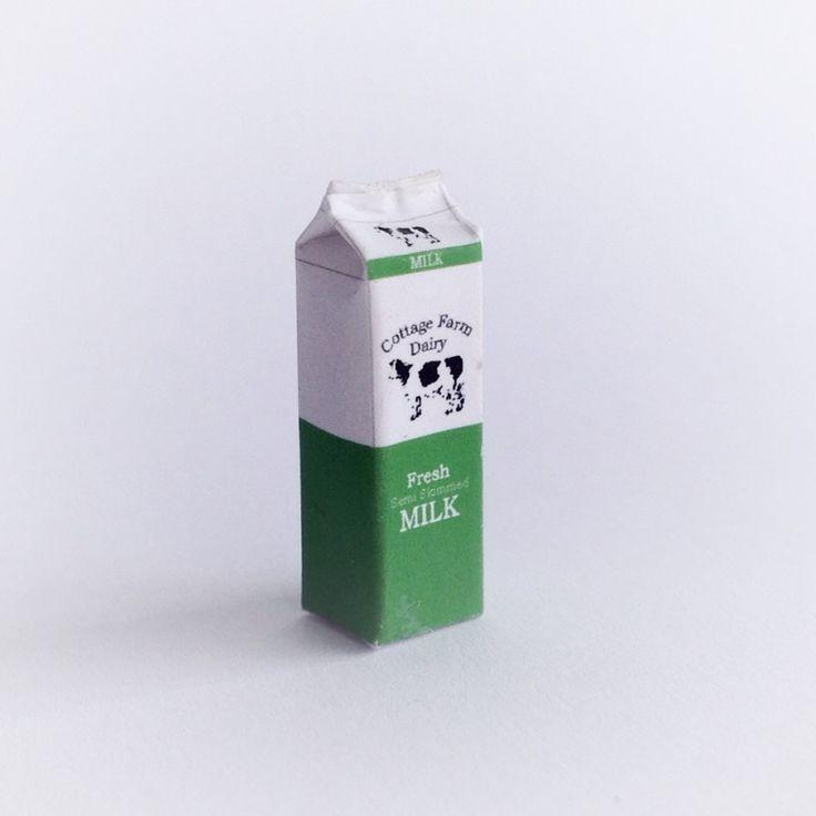 MS297 - 1:12 Scale Litre of Semi-Skimmed Milk