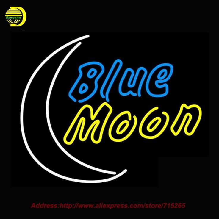 ==> [Free Shipping] Buy Best Blue Moon Yellow Beer Light NEON SIGN Bright Handcrafted Recreation Room Window Neon Bulb Glass Tube Affiche Indoor NeonT9 31x24 Online with LOWEST Price | 32660065059
