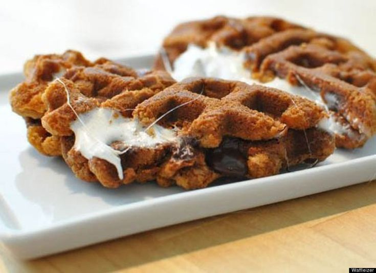 If you don't think you're getting enough mileage from your waffle maker, here are some recipes to try. S'moreffles
