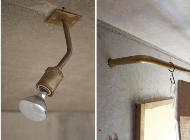 Finally a minimal and well made curtain rod.  I MUST have this!!!. This ceiling fixture is classic, too.  Uno Tomoaki is perfection. Uno Tomoaki Light and Curtain Rod   Remodelista