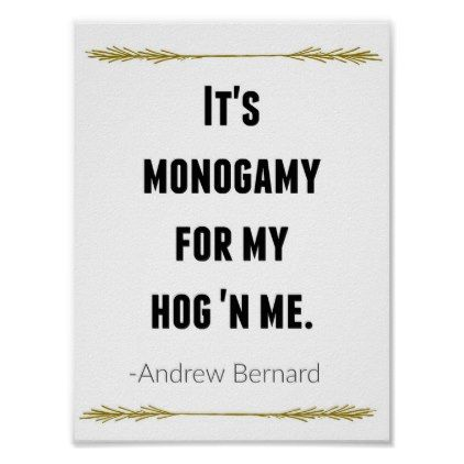 Andy Bernard The Office Quote Print - wedding decor marriage design diy cyo party idea