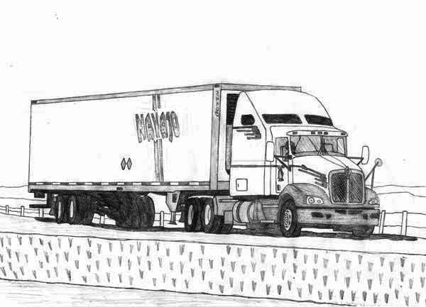52 best images about ed 39 s blanket on pinterest coloring for Semi truck coloring pages