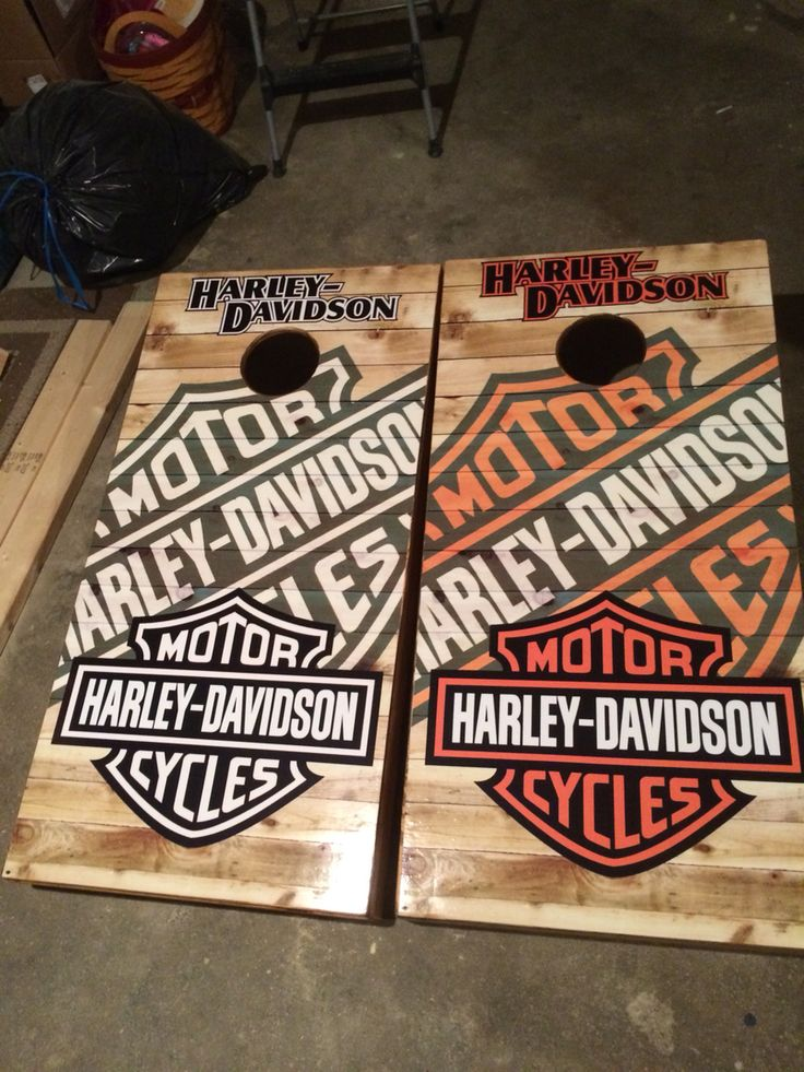 Harley Davidson Cornhole Board Bag game set
