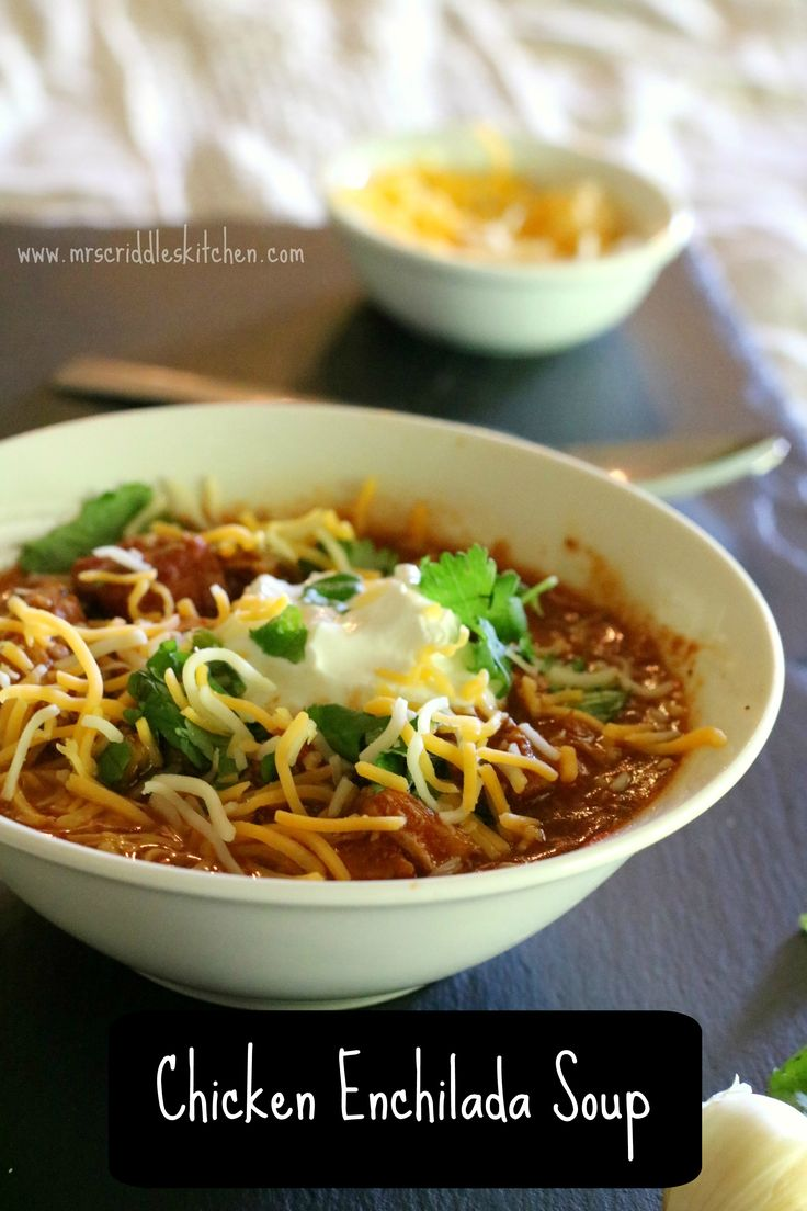 Chicken Enchilada Soup- a yummy TexMex dish that is both low fat and low carb, but you can dress it up!  THM FP, E or S!